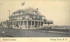 ZEHDEN'S CASINO College Point, Queens, New York 1912 Vintage Postcard