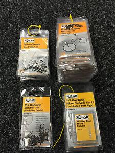 Solar. Heli swivels, bait holder swivels, PVA bag swivels, PVA bag ring swivels