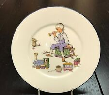"""Lenox China Special Child's 8"""" Plate Little Boy With Horn Drum Train"""