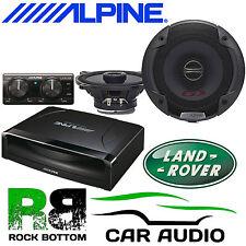 Landrover Defender 110 Alpine Active Under Seat Subwoofer & Dash Car Speaker Kit