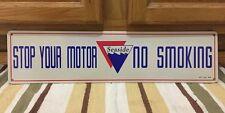 Stop Your Motor No Smoking Seaside Gasoline Vintage Style Metal Garage Shop Oil