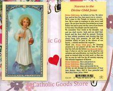Novena to the Divine Child Jesus - Laminated  Holy Card