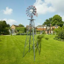 Patio 8Ft Metal Windmill Garden Decoration Weather Rust Resistant Wind Spinners