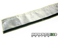 """RaceFlux 1.25"""" ID Stitched Aluminized Aramid Heat Sleeve for Hose and Wiring"""