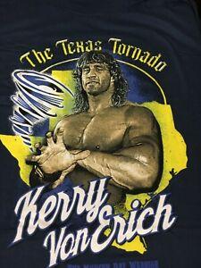 "Pro Wrestling Crate KERRY VON ERICH  t shirt  XL    NEW!     ""Texas Tornado"""