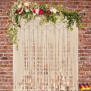 Boho Makramee Wandbehang Tapestry Tür Fenster Vorhang Hochzeit Hintergrund DE