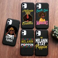 Queen Afro Black Girl Magic Melanin Poppin Art phone Case For iPhone 11 X 6s 7 8