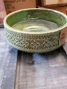 myBoxshop Pflanzschale 1 Liter Keramik Schale Blumentopf Pflanzkasten Schale oval L/änge 20 cm