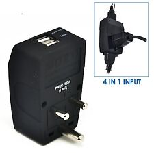 Ceptics Type D 2 USB India Travel Adapter 4 in 1 Power Plug Universal Socket