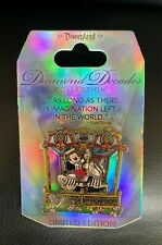 Disneyland 60th Anniversary PIN DIAMOND DECADES Mickey Mouse Carousel LE 2015 AP