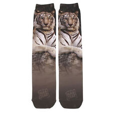 White Tiger Sublimation Socks Wild Habitat Adult One Size Fits Most New
