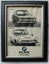 #16 - Glas 1304 & 1700 GT: Original Werbung 1960er Jahre gerahmt 13x18cm