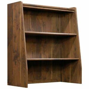 Sauder Clifford Place Library 2 Shelf Bookcase Hutch, Grand Walnut Finish