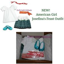 American Girl Josefina Feast Outfit for Doll Josefina's Blouse Skirt Shoes NEW