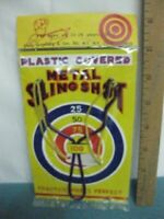 Vintage 1960's-70's, New Old Stock, Toy Slingshot factory sealed, 5 & Dime store