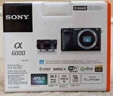 Sony - Alpha a6000 Mirrorless Camera with 16-50mm Retractable Lens - Gray