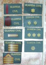 lote de parches POLICIA GUARDIA CIVIL SERVICIO MARITIMO spain police patches