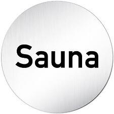 "Aluminium Schild 10 cm Ø ""Sauna"" • Toilette • Tür • Wand • Alu • Dusche • WC"