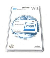 Nintendo Wii 2000 Points Card New Factory Sealed Old Stock Free Shipping
