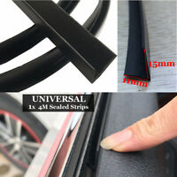 Car Door Window Trim Edge Mouldings Rubber Noise Weatherstrip Seal Strip Black