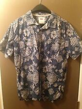 Levis Men's Button Down Short Sleeve Dress Shirt Hawaiian Style Lrg