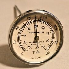 Vintage Darkroom Photography Utility Thermometer Made in Japan -- 4317