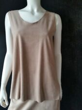 Wolford Top Faux Suede Elastic Dove Size M NEW