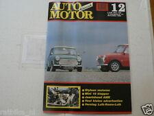 AMK 1991-12 STYLSON MOTORCYLE,PUCH HISTORY PART 4,MINI COOPER 16 VALVES,LUIK ROM