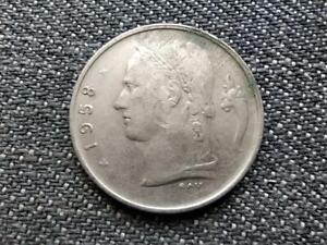 Belgium Baudouin I (1951-1993) 1 Francs Coin (French text) 1958