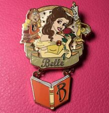 DISNEY PIN - Beauty and the Beast BELLE Princess Icon Dangle Lumiere Cogsworth