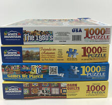 LOT OF 4 WHITE MOUNTAIN 1000 PIECE JIGSAW PUZZLES The 1980s Games We Played