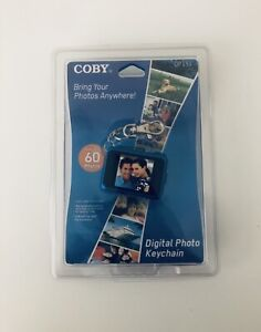 "Coby Digital Photo Keychain DP151 Holds 60 Color Display 1.5"" BLUE, New Sealed"