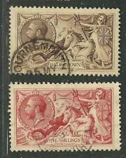 Great Britain (UK) Stamps 173-4 SG 413a, 416 Seahorses (W&S) U VF 1913 SCV $555