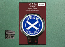 Royale Classic Car Badge & Bar Clip SCOTLAND SCOOTERISTS MOD B1.2469