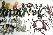 VINTAGE LOT OF RADIO TEST EQUIPMENT ITEMS - CABLES, CONNECTORS, WIRES, LEADS
