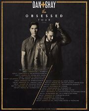 "DAN + SHAY ""THE OBSESSED TOUR"" 2017 NORTH AMERICAN CONCERT POSTER- Country Music"