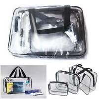 New Waterproof Transparent Cosmetic Bags Storage Pouch Makeup Case Toiletry Bag