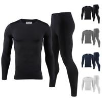 Mens Ultra Soft Fleece Lined Thermal Top & Bottom Long John Underwear Set