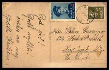 NORWAY GRAVDAL DECEMBER 8 1945 POSTCARD TO NY USA
