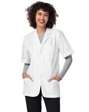 Adar Men Doctor Nurse Uniform Lapel Collar Short Sleeve Consultation Coat