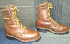 "Mens Thorogood USA Logger Series 9"" CrazyHorse Waterproof Steel Toe Boot 11 D"