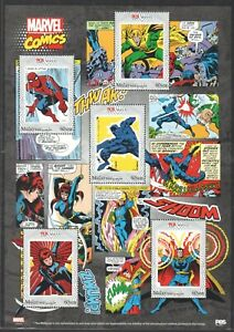 MALAYSIA 2019 80 YEARS OF MARVEL COMICS SUPERHERO SPECIAL STAMPS FOLDER SET MINT