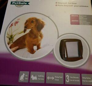 Pet Door Dog Cat 2 Way Flap small brown Entrance Safe PetSafe Staywell Original