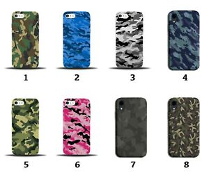 Camo Print Phone Case Cover Camouflage Army Pattern Design Blue Boys Mens 8170i