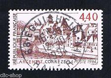 1 FRANCOBOLLO FRANCIA TURISTICA ARGENTAT 1994 usato