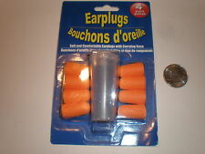 EARPLUGS, 4-Pair, Hearing protection, with case, Gun, Shooting, travel, noise