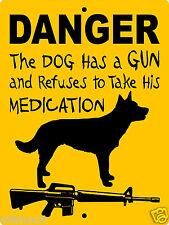 "Australian Kelpie Dog Sign, 9""x12"" Aluminum,Guard Dog Sign,Security,Gate,Danger 6"