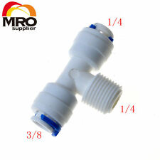 "5pcs3/8' 1/4'1/4""Od Hose Type T Quick Connection Ro Water Connector"
