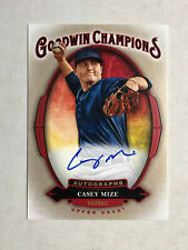 CASEY MIZE 2020 Upper Deck Goodwin Champions SP BLUE INK RC AUTO! TIGERS! INVEST