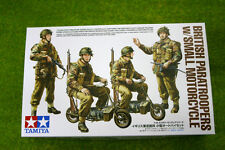 Tamiya WWII BRITISH PARATROOPS w/ SMALL MOTORCYCLE 1/35 Scale Kit  35337